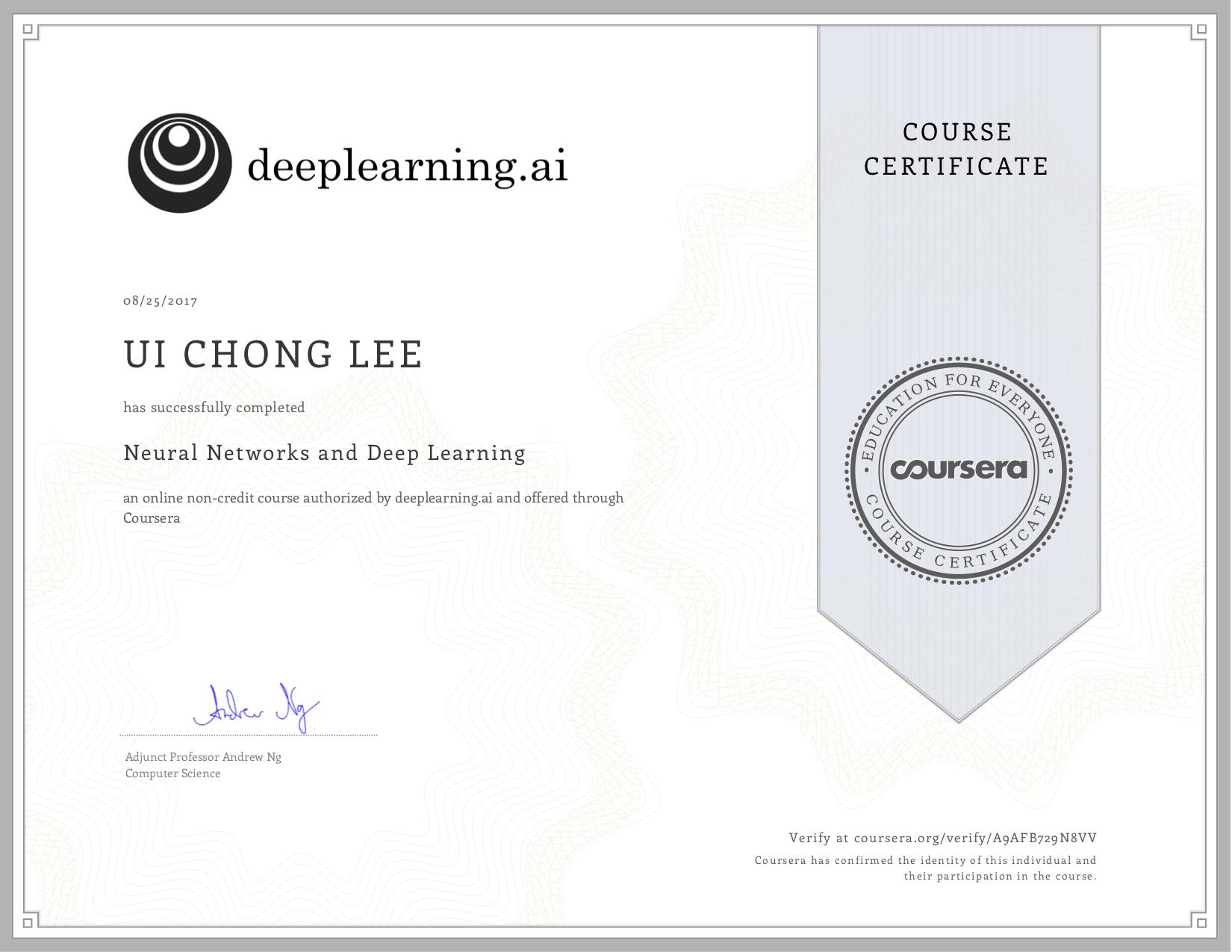 Coursera Certificate